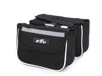 1Pcs 15x16x12cm Black Bike Bicycle Cycling Saddle  Bag On The Frame, Bicycle Accessories
