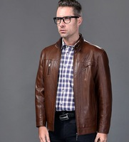 2013 male genuine leather clothing men's clothing genuine leather sheepskin autumn and winter fashionable casual leather jacket