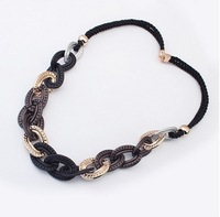 Min order$8, Free Shipping!  fashion personality serial braided rope necklace handmade women jewlery