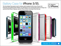 Newest iFans battery case cover for iphone5 2400mah 1year warranty MFi certificated power pack case