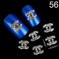 2014 Hot DIY Nail Jewelry Alloy Rhinestone 3D Logo Nail Art Decoration 100Pcs\lot