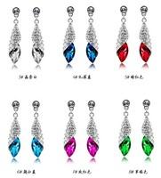 Free shipping Optical crystal stud earring earrings earring drop earring female