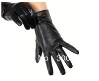 High quality brand women winter Genuine leather Gloves warm Goatskin mittens Fashion 2013 Good gift choice for lover