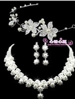 perolas The bride hair accessory accessories pearl wedding gift wedding accessories necklace jewelry piece set  perla