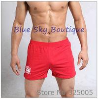 mens short underpants male trunks loose home pants cotton red underwear mid waist men's boxer shorts