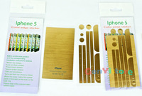 5Pcs/Lot Full Body Wrap Decal Skin Sticker Champagne Gold Champagne Gold Color For iPhone 5