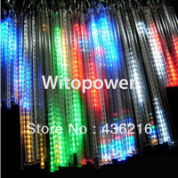 RGB White Blue LED Light Meteor 30CM 8 Tube 144 LED Snowfall Christmas Wedding free shipping