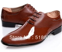 New Style 2013 Mens Black/Brown Genuine Leather Business Shoes, Slip-on Wedding Shoes,Fashion Oxfords Working Shoes Size 41-44