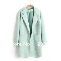 Ny new winter loose woolen coat and long coat ladies increase size M,L,XL,XXL,XXXL