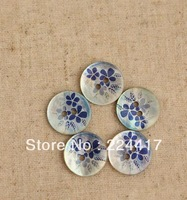 diy accessories multicolour blue flower shell button1.5cm  handmade decorative buttons