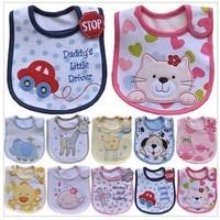 free shipping 2013 Hot Sale Cotton Baby Bib Infant Saliva Towels Baby Waterproof Bib Cartoon Baby Wear With Different Model