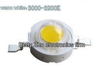 Free shipping 1W High Power LED warm white 100-110LM 3000-3200K