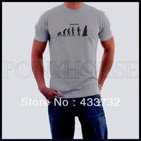 Evolution star wars mens tshirt  short-sleeve t-shirt   / 2013 mens sport casual t shirt