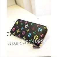 Watercubic folding wallet 2014 new fashion women's wallets purse cluth bag small card bags high quality pu leather mini handbag