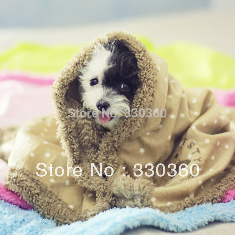 2014 Brand New Dog Blanket Pet Cat Fleece Blanket Ploka Soft Warm Air Conditioning Pad Mat Cover for Puppy Bed Pet Products(China (Mainland))