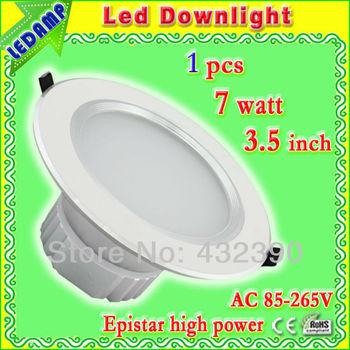 3.5 inch 7w high brightness led ceiling downlight fixture + led driver ac 85-265v _ 700 lumens furniture lighting led cool white