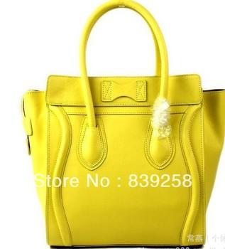 free shipping classic and fashion handbag top quality 100%  imported calfskin Mini Luggage  tote famous design monocolor
