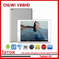 CHUWI V88HD 7.9 inch Tablet PC with RK3188 solution,Quad core Android 4.2OS 1024x768px  Dual Cameras OTG G-sensor Free shipping