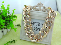 Free Shipping Vintage Chunky GOLD Plated CCB shining Choker Statement Pendant&Necklace Fashion Gift For Women 2013 Hot promotion