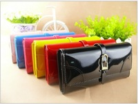 Free shipping 2013 fashion PU Leather women's Evening Bag Messenger Bag cosmetic bag wallet Purse Money Pocket ,6 colors