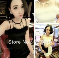 9816 2013 Women Ladies Sexy Cotton Casual Lace Dress For Spring and Autumn Promo tio Free Shipping