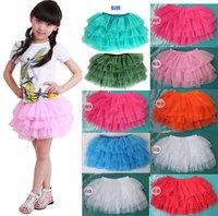 Baby Kids Girl Dancewear Cute Chiffon Tutu Headband Full Pettiskirt Princess Ski    2-10Y