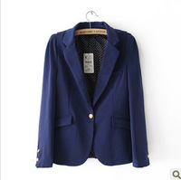 new coming one button suit, thin and Slim shrug  jacket women's jeckat, new coming blazer