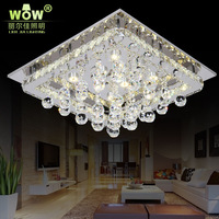 Wowled crystal lamp brief living room lights ceiling light modern fashion light restaurant rectangle hall lights