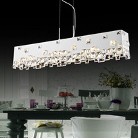 Wow dining room pendant light rectangle fashion crystal lamp modern brief bar lamps personalized lighting
