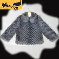 2014 New Best Selling! Women Genuine Silver Fox Fur Coats Vests Natural Fox Fur Gilet Waistcoats Customize Women's Fur Customize