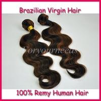 Fashion Highlight  #1b/30 Cheap Human Hair weaves 8-28inch 4pcs Free shipping  5A Brazilian body wave virgin hair extensions
