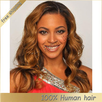 Fashion wavy!! #1b unprocessed 100 human virgin hair brazilian full lace wigs for black women free shipping