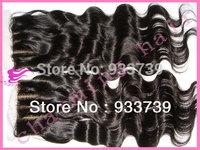 "body wave 3 part lace closure,4""x 4"" virgin Indian silk closure,6a virgin hair lace front closure, 3 way part silk base closure"