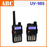2013 Walkie Talkie Dual band 8W 128CH UV-985 VOX DTMF Offset Two-Way Radio A1002A Interphone Transceiver