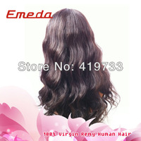 Free Shipping virgin human hair color NEW Style 10-24 inch Body Wave Brazilian Human Hair U Part Lace Front Wigs