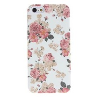 Exquisite Design Flower Pattern Relief Hard Phone Case for iPhone 5/5S Free Shipping
