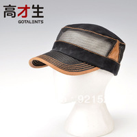 Male women's summer breathable mesh cap sun-shading plain cadet military cap hat outside sport sun hat