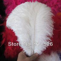 "wholesale 100pcs/lot 10-12"" White fluffy Ostrich Feather Plume  wedding decoration"