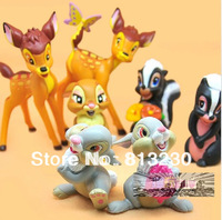 Free Shipping New Action Figures Cartoon Bambi 7 paragraphs Dolls Ornaments Creative Christmas Gifts
