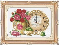 Roman clock -- Handmade cross-stitch finished products Sale