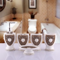 Luxury Lucky Pear Bathroom Sets Home Bath Product 5pc/set  Lotion Bottle+Toothbrush Cup+2 Cups+sSoap Dish Christmas Gift Wedding