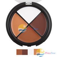 [Super Deals] Pro 4 Color Cream Camo Quad Dark Makeup Concealer Palette Skin Tones 3# wholesale