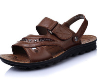 Once 39 ! male summer leather sandals male sandals dual