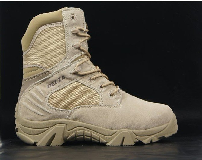 Delta Military shoes Army Boot Desert/Tactical Boot /Men Genuine Leather shoes(China (Mainland))