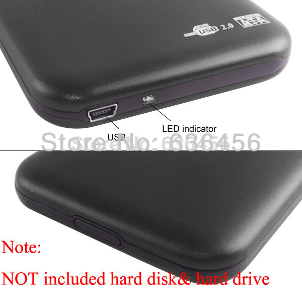 "Free HK Shipping/ HDD Case Black Color Hard Drive SATA 1TB 2.5"" USB 2.0 Portable External Enclosure Case Box(China (Mainland))"