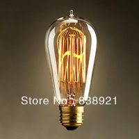 Free shipping ST64 6PCS /LOT  edison bulb light 40w 110V- 220V American vintage nostalgic loft chandelier pendant light