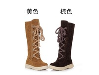 winter female snow boots  shoes flat bottomed high-leg snow boots platform snow boots  winter thermal boots