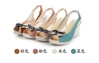 female sweat sandals shoes platform sandals shoes platform wedges sandals open toe  platform high-heeled open toe sandals