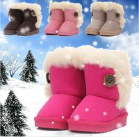 New Hot  2014 Girls Snow Boots Children's Boots Winter Boy Girls Warm Winter Flat Snow Boots Kids Booties Baby Boots