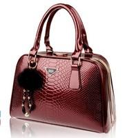 REAL LEATHER High quality 2014 women's handbag serpentine pattern cowhide bride women's handbag